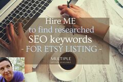 Offering online services: I will Research & provide SEO keywords for your listing(s)