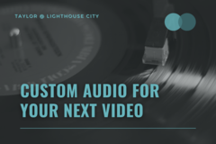Offering online services: Fully custom music for your next video or advert!