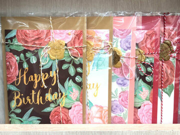 : Happy birthday card with a floral background