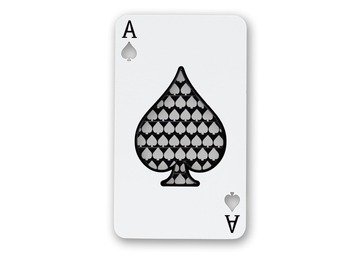 Post Now: Ace of Spades Nonstick Grinder Card