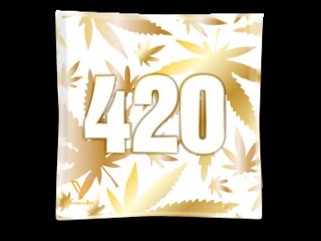 Post Now: 420 Gold Blazin' Ashtray Glass