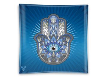 Post Now: Hamsa Blue Blazin' Ashtray Glass