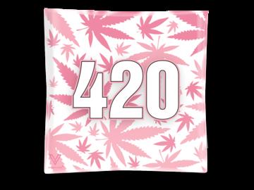 Post Now: 420 Pink Blazin' Ashtray Glass