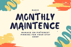 Offering online services: Basic - Monthly Pinterest Maintenance