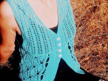 Vente au détail: Gilet turquoise