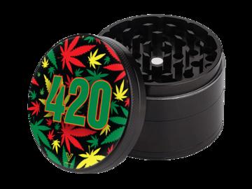 Post Now: 420 Rasta 4-Piece SharpShred Grinder