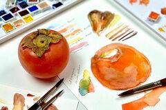 Workshop Angebot (Termine): Aquarellmalerei - Matte und glänzende Oberflächen