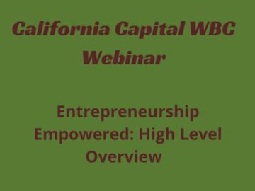 Announcement: Entrepreneurship Empowered: High-Level Overview