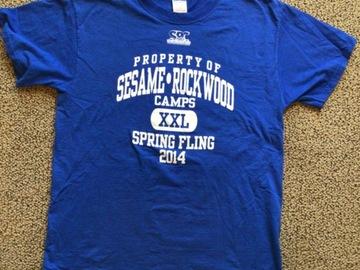 Selling multiple of the same items: Sesame Rockwood 2014 Spring Fling T-shirt