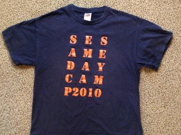Selling A Singular Item: Sesame Rockwood VINTAGE 2010 Camp T-shirt
