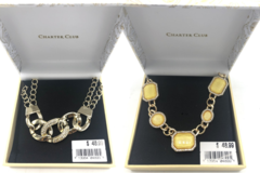 Liquidation/Wholesale Lot: 25 Boxed Charter Club by Macy's Necklaces Pre priced retail$48.99