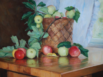 Selling : Still life with apples