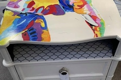 Selling with online payment: Painted Elephant Accent Table