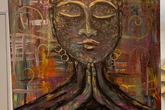 """Selling with online payment: """"Inner Peace"""" acrylic painting"""