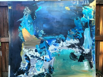 Sell Artworks: Extra large acrylic painting by Leo Cy Wyatt
