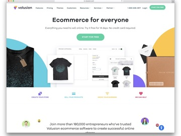 Pay per project: Design and redesign your store website on any platform