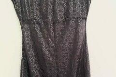 Selling: SISTER 1990s sheer shiny black dress