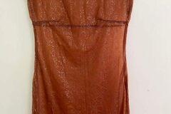 Selling: SISTER 1990s sheer shiny rust dress