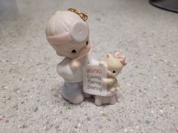 Selling with online payment: Precious Moments Porcelain Doll: 20 Years And The Vision's Still