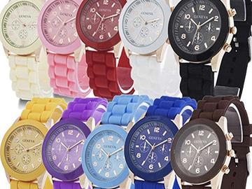 Bán buôn thanh lý lô: 10 Assorted  Silicone Wristwatch