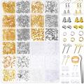 Liquidation/Wholesale Lot: 4 Boxes of 2,320 pc earring making kits