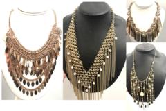 Liquidation/Wholesale Lot: 12 Boho Necklaces High End Boutique - Assorted