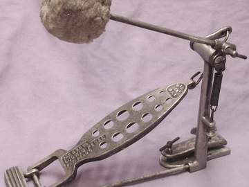 Selling with online payment: SOLD  Ludwig & Ludwig 1909 Pat. Pend. bass drum foot pedal