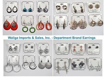 清算批发地: 100 pairs-- Asst. Department Store Earrings-- $ .99 PAIR !!