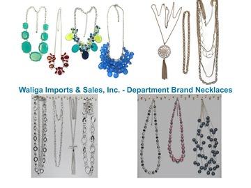 清算批发地: 80 pcs-- Department Store Necklaces--Assorted Styles- $1.49 pcs