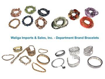 清算批发地: 80 pcs--Department Store Bracelets--Asst. styles- $1.25 pcs!