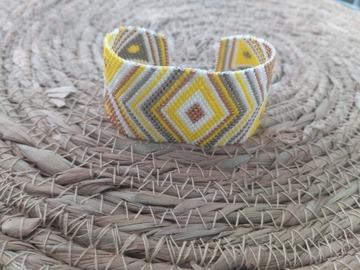 Vente au détail: Bracelet tissé en perles miyuki  jaune MIRANDA