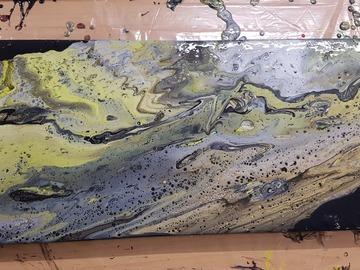 Workshop Angebot (Termine): Acryl Fluid-Art Tageskurs mit Mittagessen