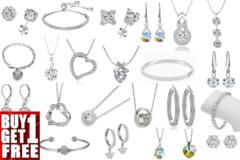 Liquidation/Wholesale Lot: Buy One Get One Free! 50 pc Swarovski Jewelry Sale 2 days only !