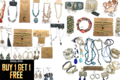Liquidation/Wholesale Lot: Buy 1 Get 1 FREE - 100 pcs  All Name Brands Jewelry $2,500 RETAIL