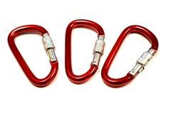 Liquidación / Lote Mayorista: Premium Aluminum 2.5″ Screw Locking Carabiner – Red