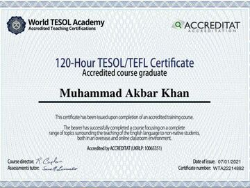 Offering without online payment: Certified ESL trainer