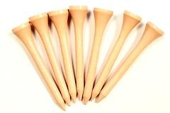 Liquidación / Lote Mayorista: 10,000 Premium Hardwood GOLF TEES 2 1/8″ Shortees – Peach Color