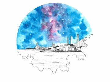 : Power Station on Lamma Island (Fine Art Print)