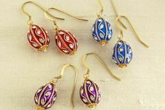 Liquidation/Wholesale Lot: Fabergé Egg Earrings- mixed lot