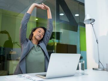 Employee Engagement & Team Building: Desk Stretching & Yoga (20-50 Attendees)