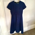Selling: Royal Blue Brocade Wool Dress