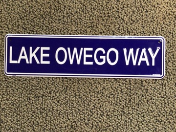Selling A Singular Item: Lake Owego Camp street sign bunk decor