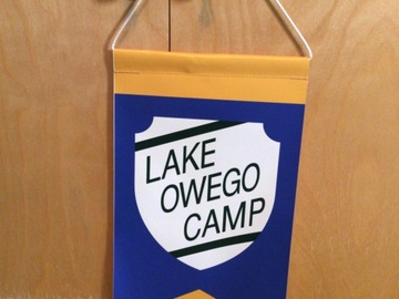 Selling A Singular Item: Lake Owego Camp pennant
