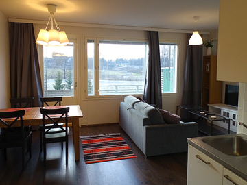 Annetaan vuokralle: 40m² bright fully furnished modern studio with good view.