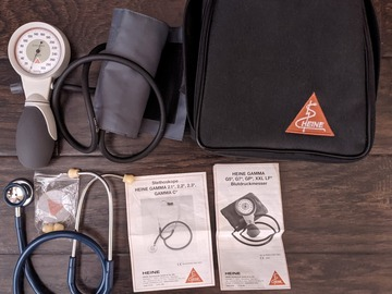 Selling with online payment: Heine Sphygmomanometer, BP Cuff and Stethoscope