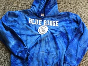 Selling A Singular Item: Blue Ridge tie dye hooded pullover sweatshirt