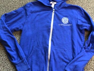 Selling A Singular Item: Blue Ridge zip up hooded sweatshirt