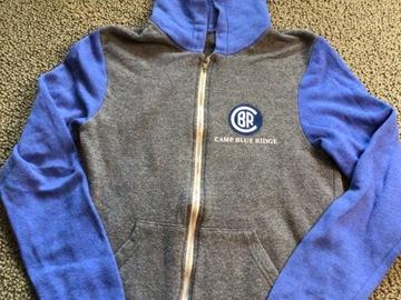 Selling A Singular Item: Blue Ridge two toned zip up hooded sweatshirt