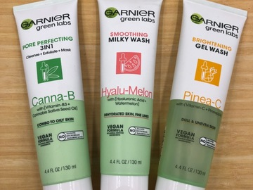 Liquidation/Wholesale Lot: 15 Garnier Green Labs Facial Cleansers