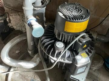 Gebruikte apparatuur: Durr afzuigmotor